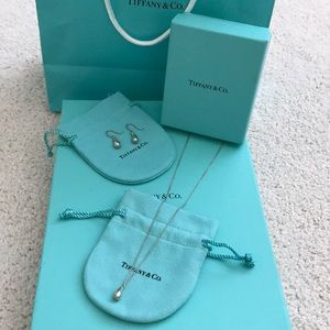 Tiffany & Co. Teardrop necklace and earring set